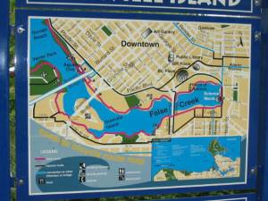 False Creek map
