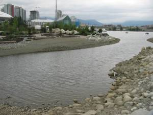 reclaimed and filled land in False Creek