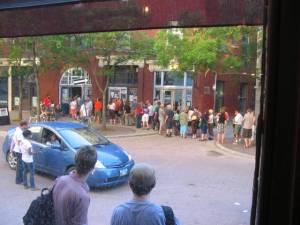 Fringe line-up, from the Mondragon Cafe