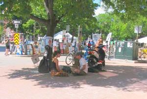 Fringe street meditators