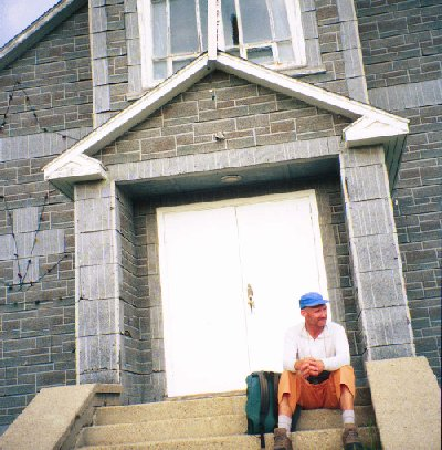 On the steps of the Catholic Church at Cumberland House