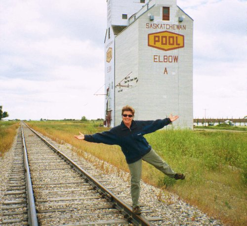 Elbow, Saskatchewan. Dee-lighted to be here! Fries to go please....